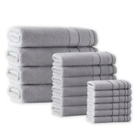 Enchante Home® Monroe 16-Piece Turkish Cotton Towel Set in Silver