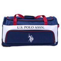 U.S. Polo Assn.® 27-Inch Rolling Duffle Bag in Blue