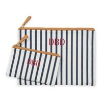 Cathy's Concepts 2-Piece Striped Clutch Set in Navy