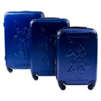 U.S. Polo Assn.® Molded 3-Piece Hardside Spinner Luggage Set in Blue