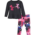 Under Armour® Size 3-6M Logo Bodysuit and Legging Set in Black