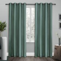 Shantung 96-Inch Grommet Room Darkening Window Curtain Panel Pair in Teal