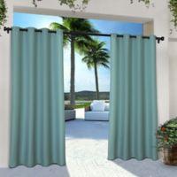 Solid Indoor/Outdoor Grommet 84-Inch Window Curtain Panel Pair in Teal