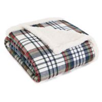 Eddie Bauer® Anderson Plaid Cadet Blue Sherpa Throw