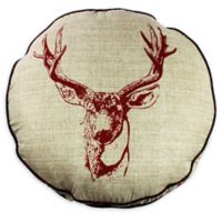 Realtree® Deer Head Round Throw Pillow in Tan