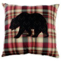 Realtree Bear Walk Square Throw Pillow in Red