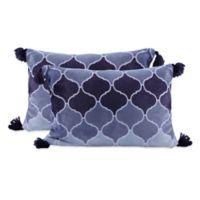 Berkshire Blanket® Set of Two Ombre Toss Pillow in Navy
