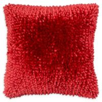 Dolce Home Butter Chenille Square Throw Pillow in Red