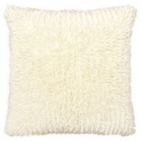 Dolce Home Butter Chenille Square Throw Pillow in Ivory