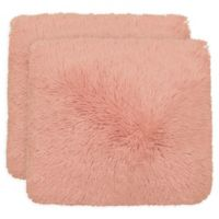 Dolce Home Alexus Square Throw Pillows in Blush (Set of 2)