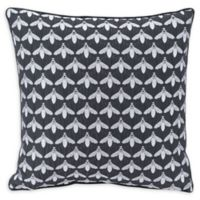 Bees Night Square Throw Pillow in Black