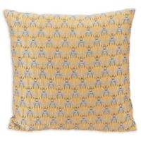 Bees Al Sol Square Throw Pillow in Yellow