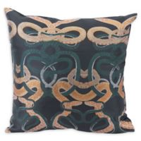 Mysterious Oriental Square Multicolor Throw Pillow