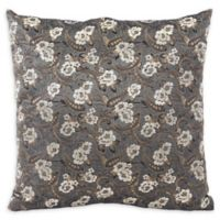 Noche Square Throw Pillow in Grey