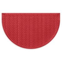"Weather Guard™ Chevrons 24"" x 39"" Half Oval Door Mat in Red"
