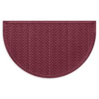"Weather Guard™ Chevrons 24"" x 39"" Half Oval Door Mat in Bordeaux"