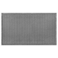 "Weather Guard™ Chevrons 35"" x 59"" Estate Mat in Grey"