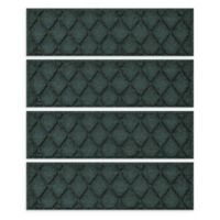 "Weather Guard™ Argyle 8.5"" x 30"" Stair Treads in Evergreen (Set of 4)"
