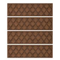"""Weather Guard™ Argyle 8.5"""" x 30"""" Stair Treads in Dark Brown (Set of 4)"""
