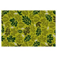 """Weather Guard™ Forest Leaves 23"""" x 35"""" Door Mat in Green"""