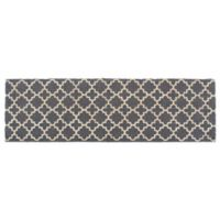 "Design Imports Lattice 18"" x 60"" Coir Double Door Mat in Grey"