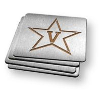 Vanderbilt University 4-Piece Boaster Coasters Set