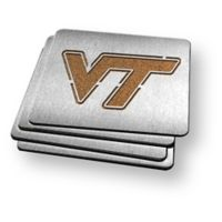 Virginia Tech 4-Piece Boaster Coasters Set