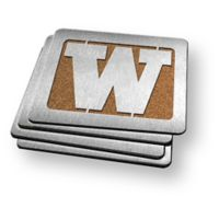 University of Washington 4-Piece Boaster Coasters Set