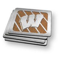 University of Wisconsin 4-Piece Boaster Coasters Set