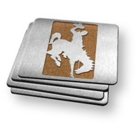 University of Wyoming 4-Piece Boaster Coasters Set