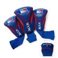 NHL New York Rangers 3-Pack Golf Club Headcovers