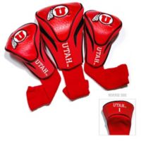University of Utah 3-Pack Golf Club Headcovers