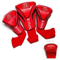 North Carolina State University 3-Pack Golf Club Headcovers