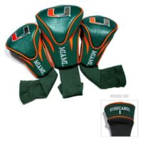 University of Miami 3-Pack Golf Club Headcovers