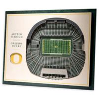 University of Oregon 5-Layer StadiumViews 3D Wall Art