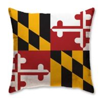 Maryland State Flag Memory Foam Travel Pillow