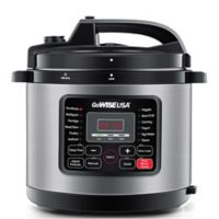 GoWISE USA® 10 qt. 12-in-1 Electric Pressure Cooker in Stainless Steel