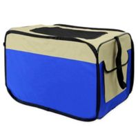Expandable Medium Airline Approved Pet Carrier in Blue