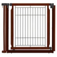 Richell® Convertible Elite Door Panel Pet Gate in Brown