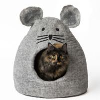 Mouse Small Wool Pet Cave in Grey