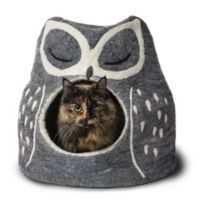 Owl Small Wool Pet Cave in Grey