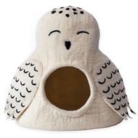 Dharma Dog Karma Cat Owl Cave Pet Bed in White