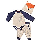 Baby Starters® Size 3M 3-Piece Forest Friends Bodysuit, Pant, and Hat Set in Oatmeal