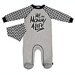 Mini Heroes™ Size 3M 2-Piece Mama for Life Footie and Bandana Set in Grey
