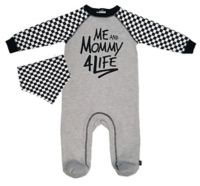 Mini Heroes™ Size 9M 2-Piece Mama for Life Footie and Bandana Set in Grey