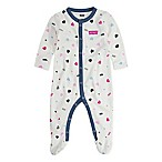 Levi's® Newborn Heart Print Coveralls in Ivory