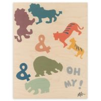 Lions and Tigers and Bears 16-Inch x 20-Inch Wood Wall Art