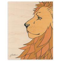 White Lion 11-Inch x 14-Inch Wood Wall Art