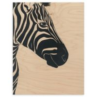 White Zebra 16-Inch x 20-Inch Wood Wall Art