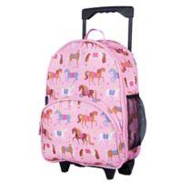 Wildkin Horses Rolling Luggage in Pink
